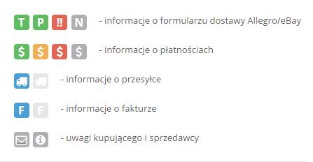Description of icons